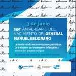 Aniversario 250° Nacimiento General Manuel Belgrano