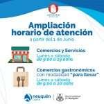 Ampliación horarios de atención desde el 1 de junio
