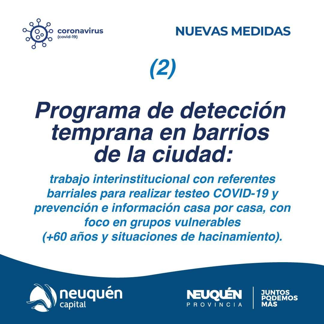 Programa de detección temprana en barrios de la ciudad