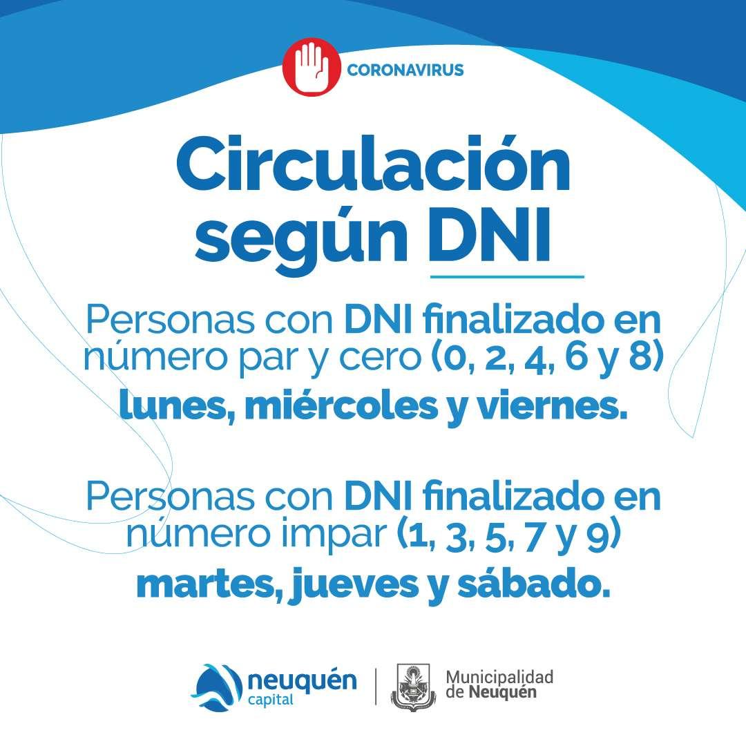 Circulación según DNI