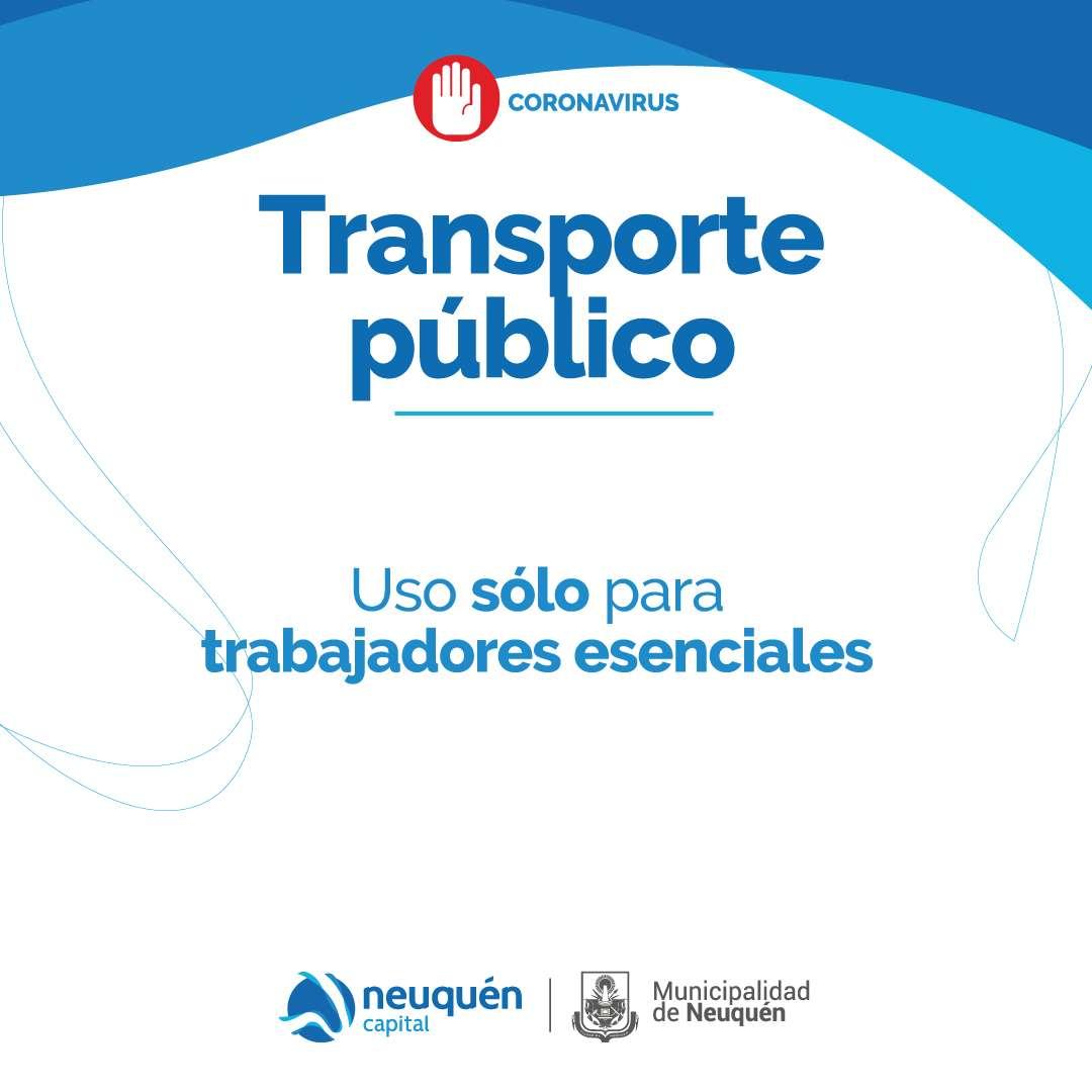 Transporte público, uso sólo para trabajadores esenciales